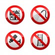 Set prohibited signs - home — Stock Vector #8866757