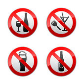 Set prohibited signs - don't drinks — Stockvector