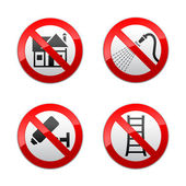 Set prohibited signs - home — Stock Vector