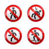 Set prohibited signs - man — Stock Vector