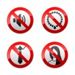 Set prohibited signs - office — Stock Vector #8876603