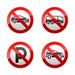Set prohibited signs - transport — Stock Vector #8876967