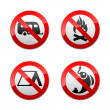 Set prohibited signs - turism — Stock Vector #8877390