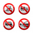 Set prohibited symbols - transport — Stock Vector #8877910