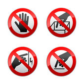 Set prohibited signs - not touch — Stock Vector