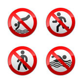 Set prohibited signs - sport — Stock Vector