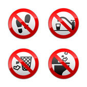 Set prohibited signs - WC — Stock Vector