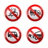 Set prohibited symbols - transport — Stock Vector