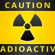 Stock Vector: Label caution sign. Radiation Hazard symbol