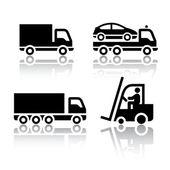 Conjunto de ícones de transporte - caminhão — Vetorial Stock