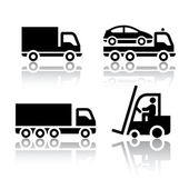 Set of transport icons - truck — Stok Vektör