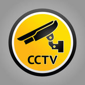 Surveillance camera warning symbols — Stock Vector