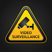 CCTV triangle symbols, web button — Vettoriale Stock