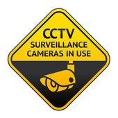 CCTV pictogram, video surveillance symbol — Stock Vector