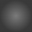 Seamless chrome metal surface, background perforated sheet — Stock Vector #9335826