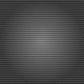 Seamless chrome metal surface, background perforated sheet — Stock Vector