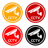 CCTV pictogram, set symbol security camera — Stock Vector