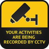 CCTV pictogram, video surveillance sign — Stock Vector