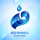 Water natural blue symbol — Stock Vector