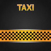 Taxi cab background — Stock Vector
