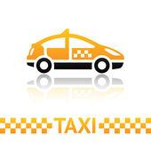 Taxi cab symbol — Stock Vector