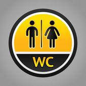 Restroom symbols — Stock Vector