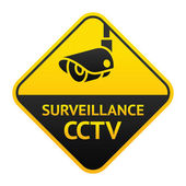 CCTV sign, video surveillance symbol — Stock Vector