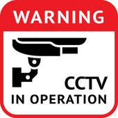 CCTV, pictogram security camera — Stock Vector