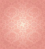 Lace background, ornamental pink flowers template — Stock Vector