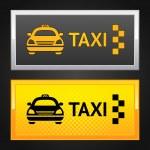 Taxi cab set label — Stock Vector #9545553