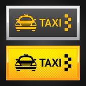 Taxi cab set label — Stock Vector