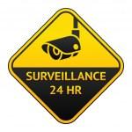 CCTV pictogram, video surveillance sticker — Stock Vector #9564465