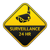 CCTV pictogram, video surveillance sticker — Stockvector