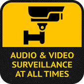 CCTV symbol, pictogram security camera — Stock Vector