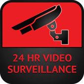 CCTV symbol, surveillance pictogram — Stock Vector
