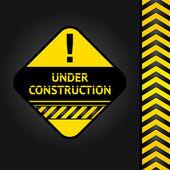 Corduroy black background, under construction — Stock Vector