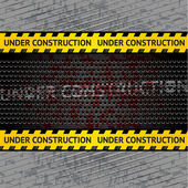 Under construction background template — Stock Vector