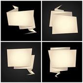 Zestaw origami, składany papier, dymek — Wektor stockowy