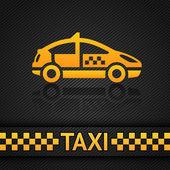 Modèle de fond de course, toile de fond taxi cab — Vecteur