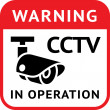 CCTV warning symbol — Stock Vector
