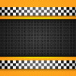 Taxi cab background, racing blank template — Stock Vector