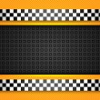 Taxi cab background, racing blank template - Stock Vector