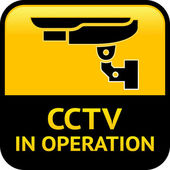 CCTV warning pictogram — Stock Vector
