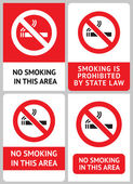 Label set No smoking — Stock Vector