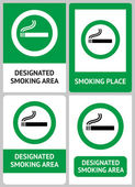 Label set Smoking place — Stock Vector