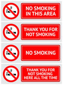 Labels set No smoking stickers — Stock Vector