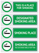 Labels set smoking place stickers — Stock Vector