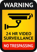 Video surveillance symbol — Stock Vector