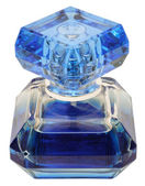 Blue bottle of perfume — Stock Photo