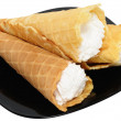 Three waffle cone — Stock Photo